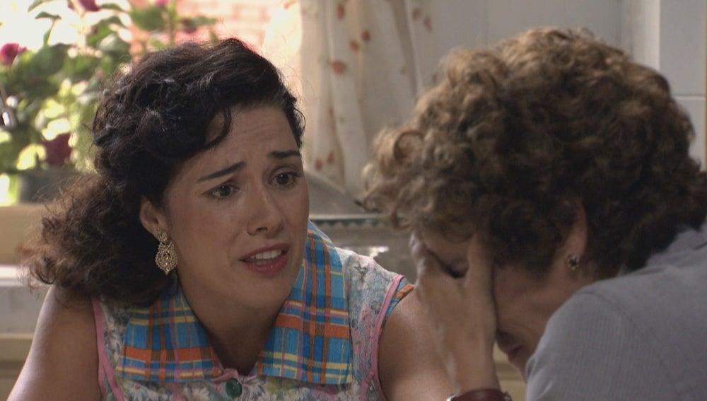 Benigna confiesa a Pepa un terrible suceso de su pasado