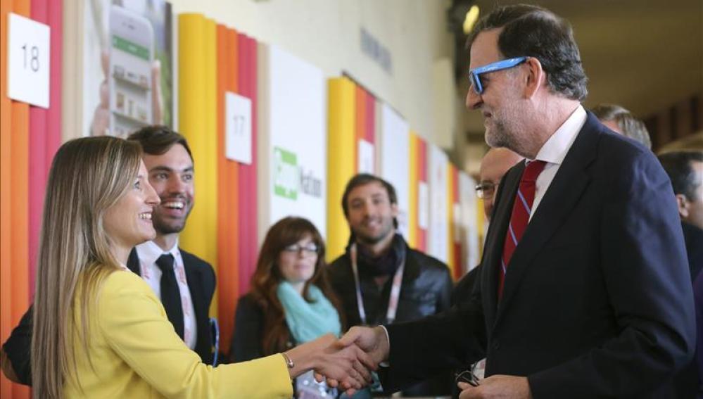 Mariano Rajoy a su llegada a la inauguración del South Summit 2015.