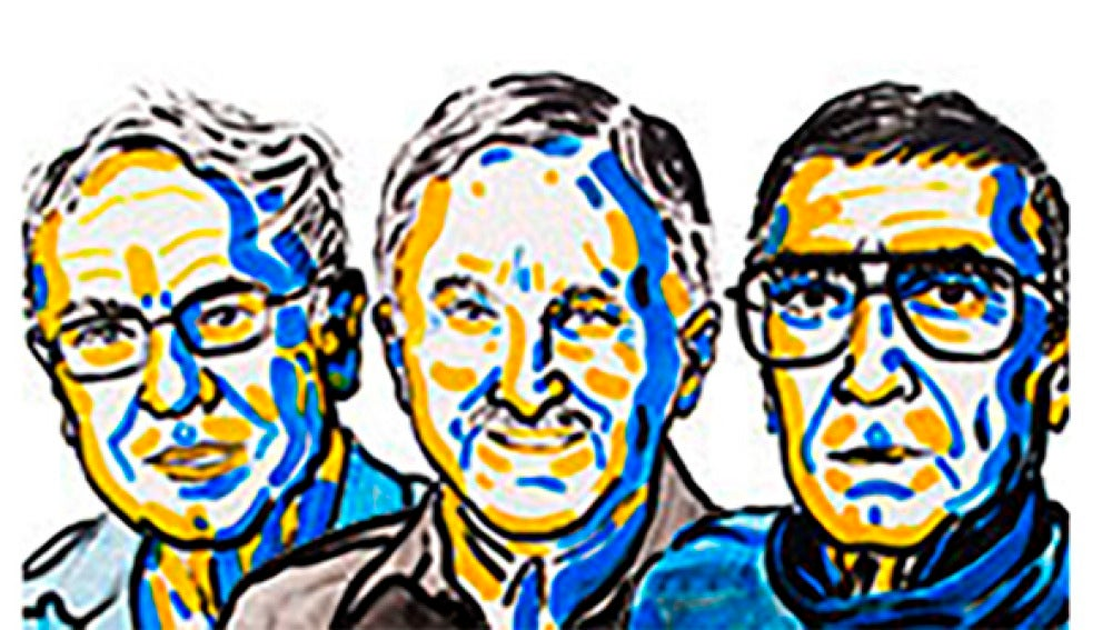 Tomas Lindahl, Paul Modrich y Aziz Sancar, premio Nobel de Química.