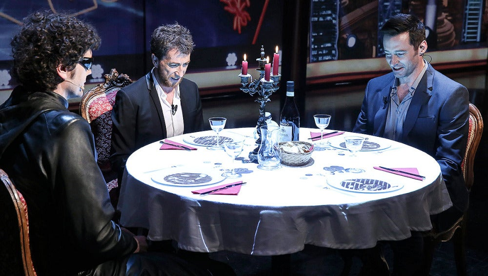 El Hombre de Negro, Pablo Motos y Hugh Jackman en El Hormiguero 3.0