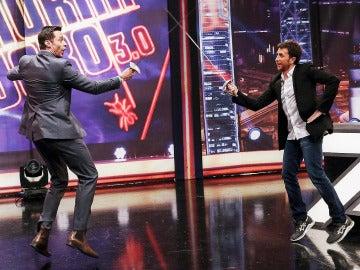 Hugh Jackman y Pablo Motos en El Hormiguero 3.0