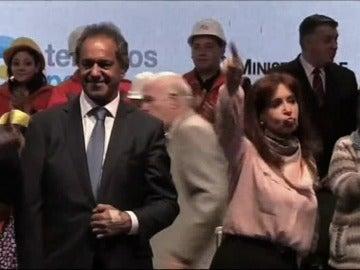 Cristina Fernández, bailando