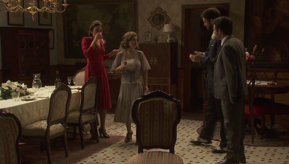 Cena Candela, Melisa y Severo