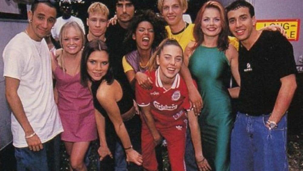 Spice Girls y Backstreet Boys, juntos en una foto de los 90