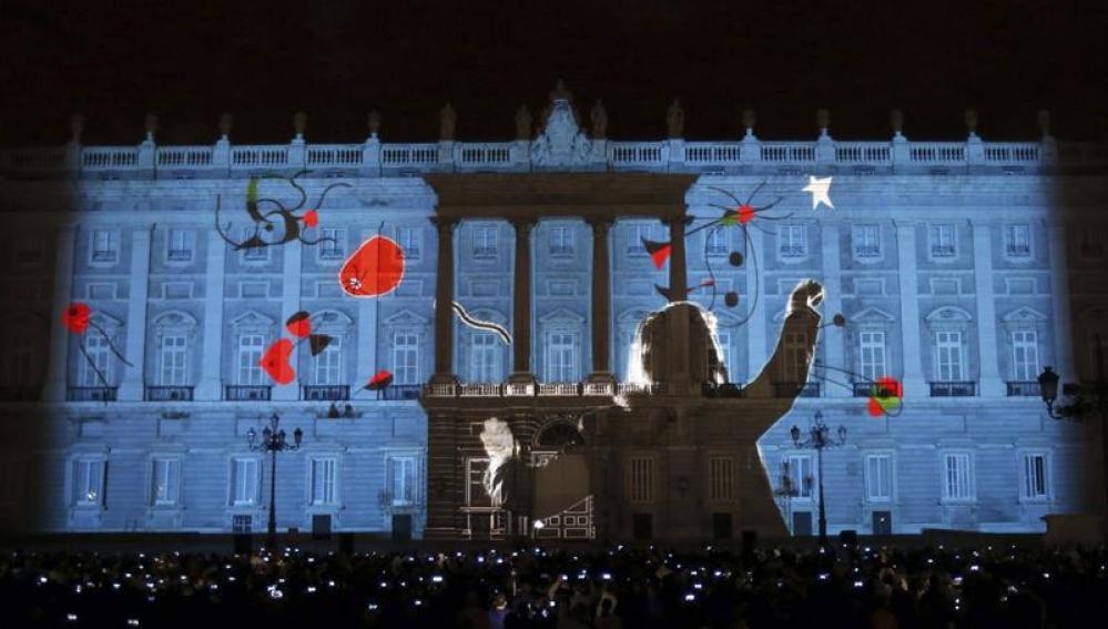 Espectáculo de luz en el Palacio Real