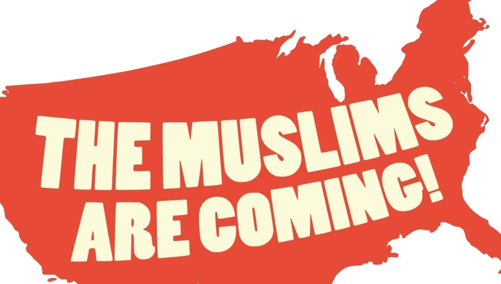 Cartel de la obra 'Muslims are coming'