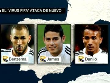 Los jugadores del Real Madrid afectados por el virus FIFA