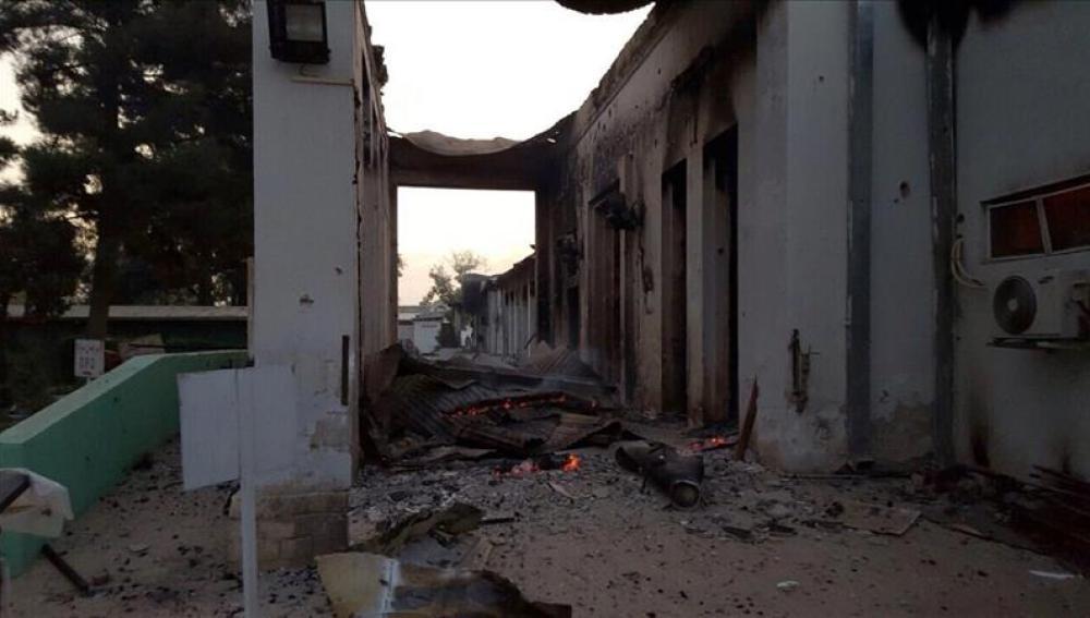 El hospital de Kunduz ha quedado parcialmente destruido