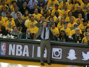 Steve Kerr, durante un partido de las pasadas Finales