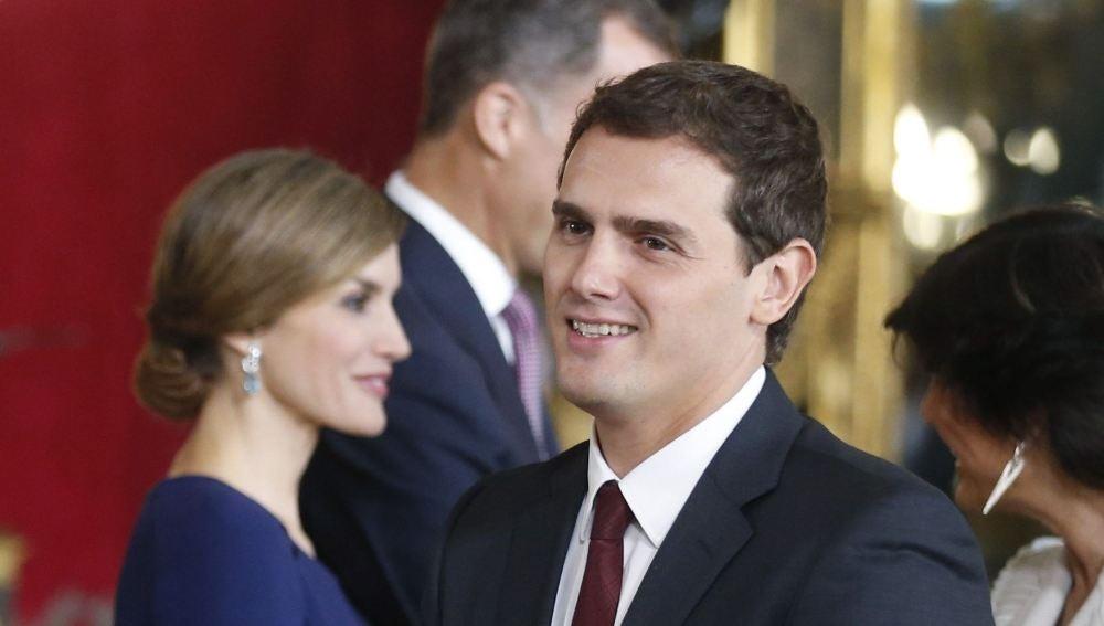 Albert Rivera, en la recepción de los Reyes por el 12 de Octubre
