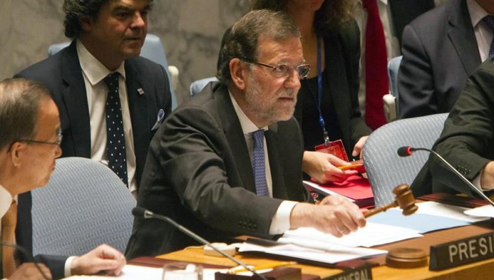 Rajoy durante el Consejo de Seguridad de Naciones Unidas.