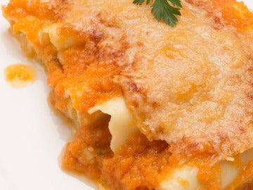 Canelones rellenos de calabaza y queso