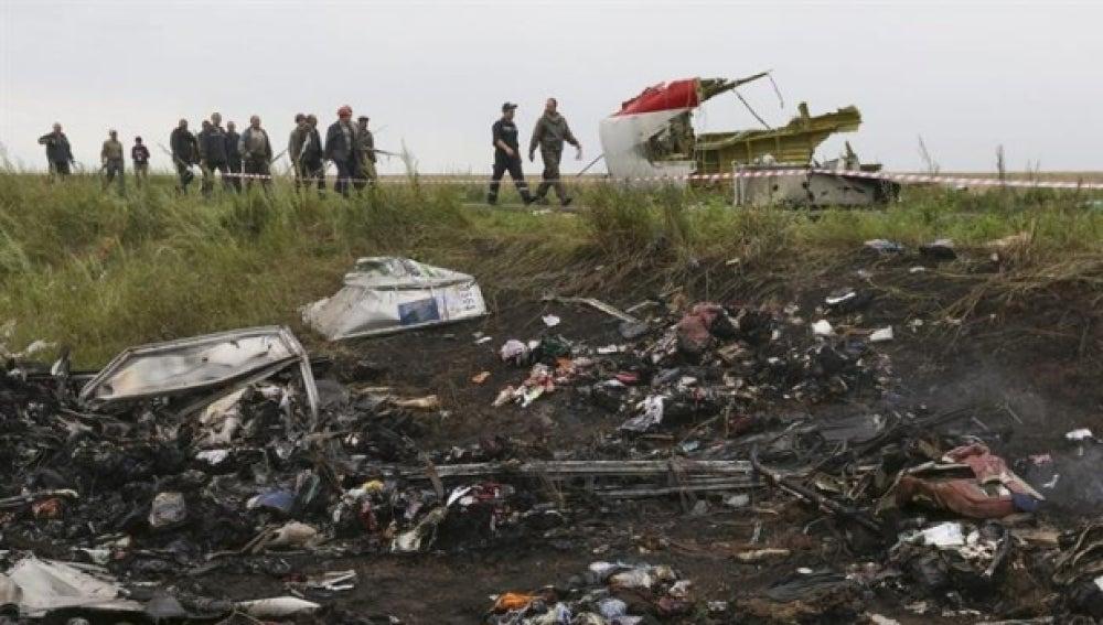 Restos del vuelo MH17