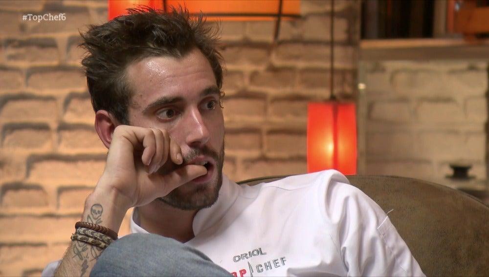 Oriol discute con Carlos en la despedida