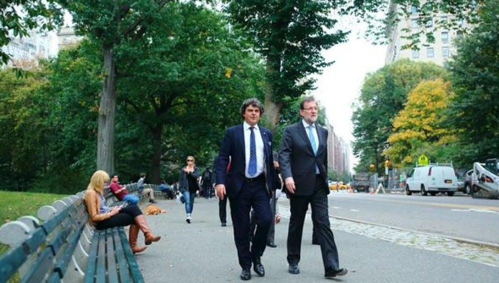 Mariano Rajoy pasea por Central Park