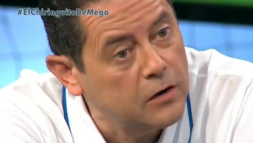 Tomás Roncero, en 'El Chiringuito de Mega'.