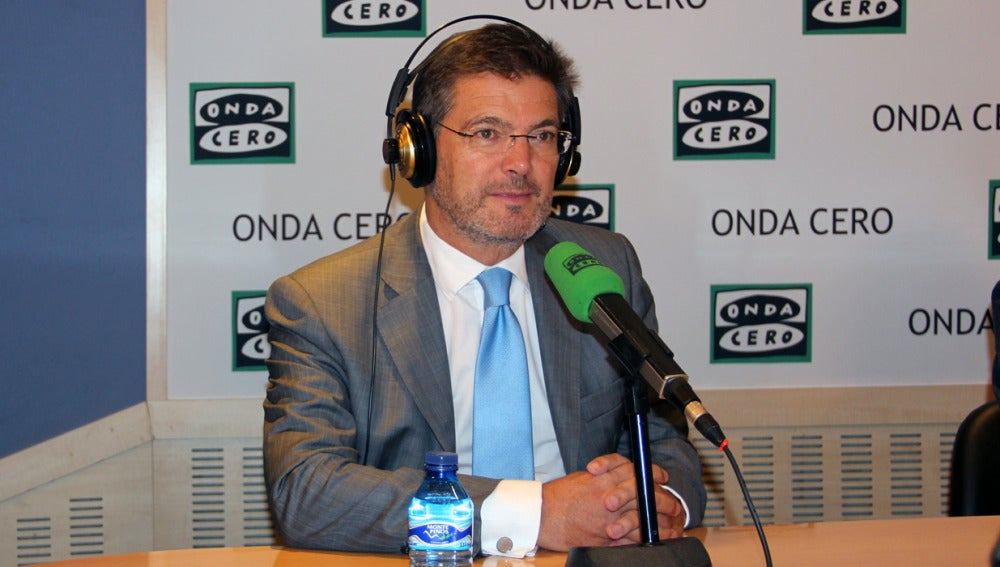 Rafael Catalá, durante una entrevista en Onda Cero