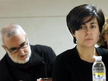Rosario Porto y Alfonso Basterra en una sesión del juicio.