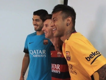 Luis Suárez, Leo Messi y Neymar