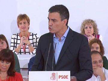 Pedro Sánchez, ante el Comité Federal del PSOE