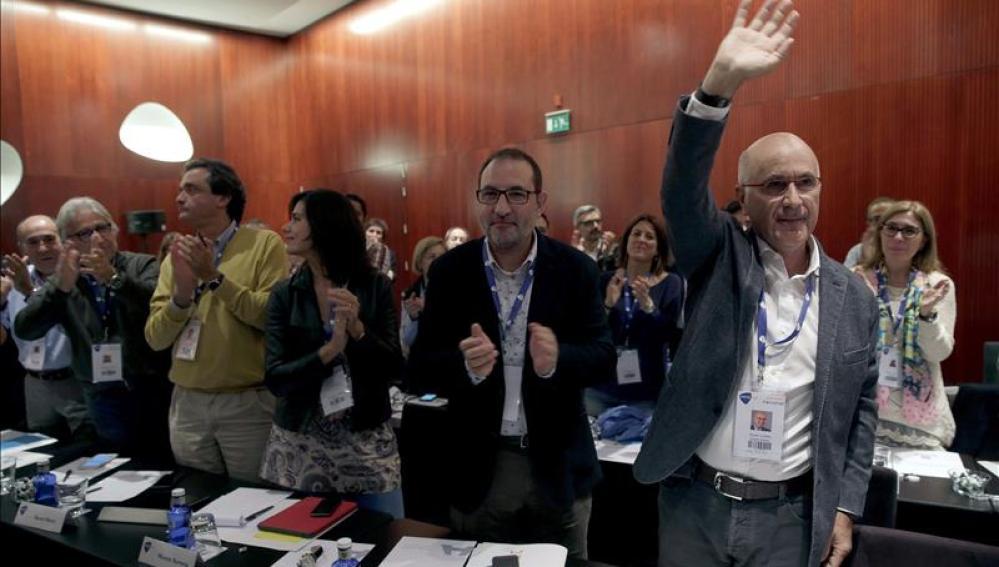 Durán i Lleida durante la celebración del Consejo Nacional de la formación que preside