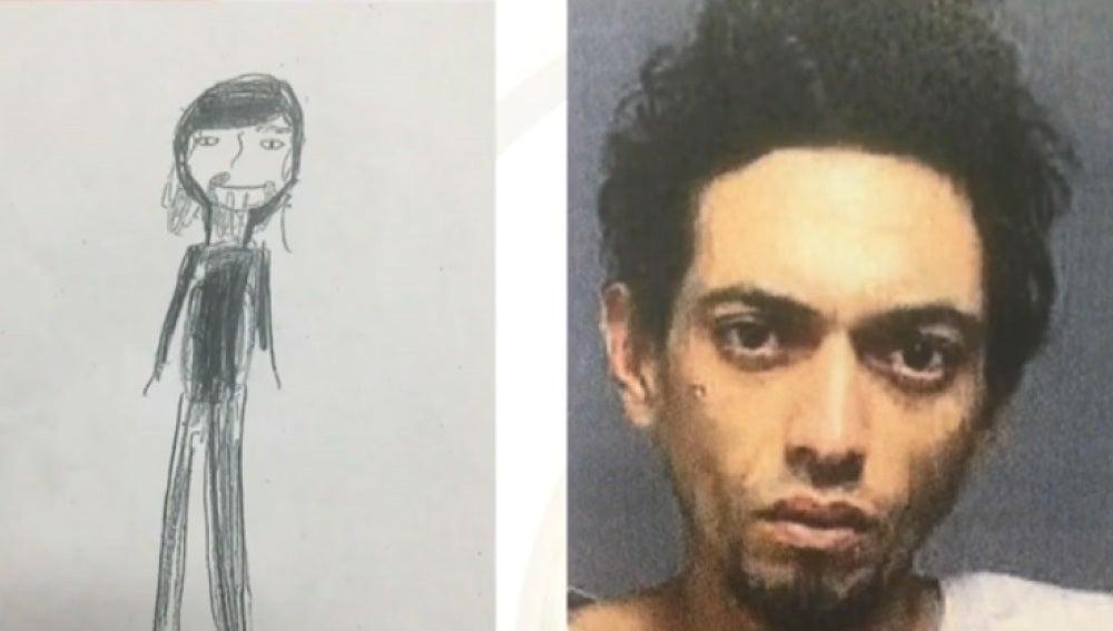 El dibujo de la niña tenía detalles que ayudaron a la Policía a dar con el ladrón