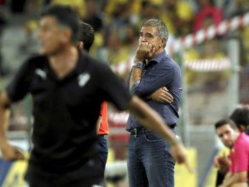 Paco Herrera, durante un encuentro con Las Palmas