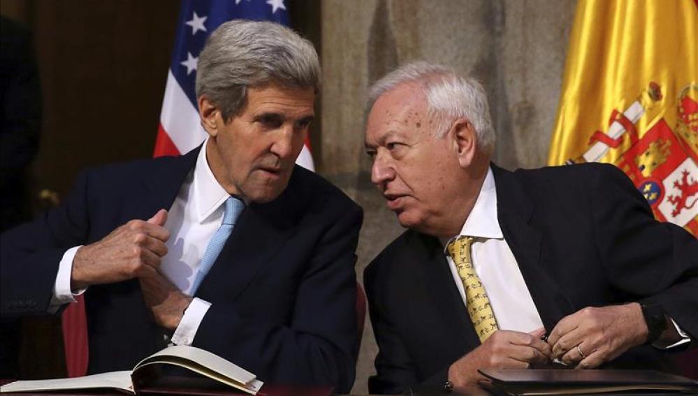 John Kerry y José Manuel García-Margallo