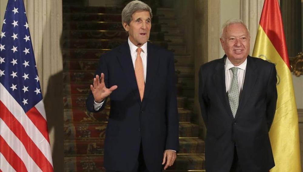 Kerry se reúne hoy con el Rey y Rajoy