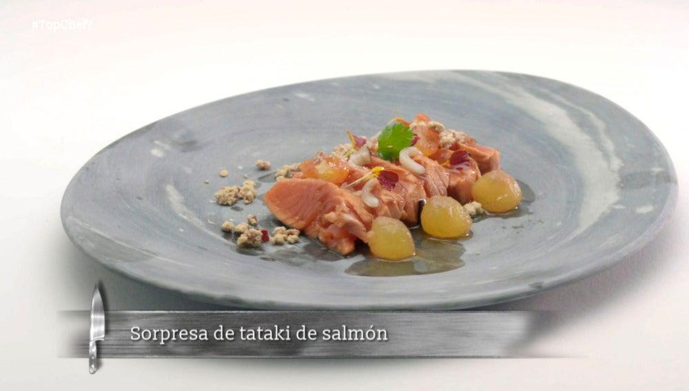 Sorpresa de tataki de salmón