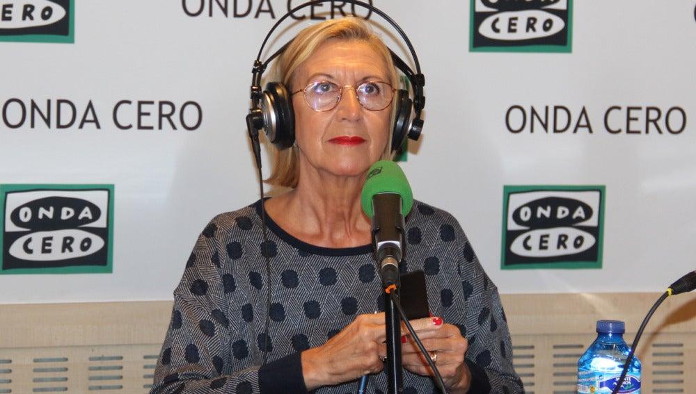 Rosa Díez, fundadora de UPyD, durante una entrevista en Onda Cero