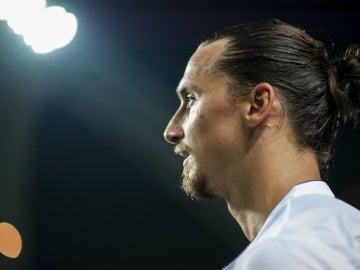 Zlatan Ibrahimovic, durante un partido con el PSG