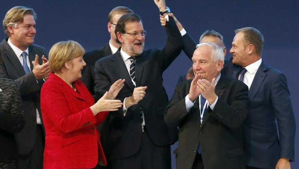 Rajoy clausura el Congreso del PPE