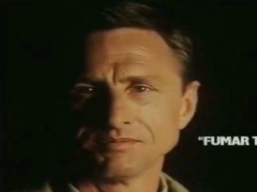 Johan Cruyff, en una campaña contra el tabaco