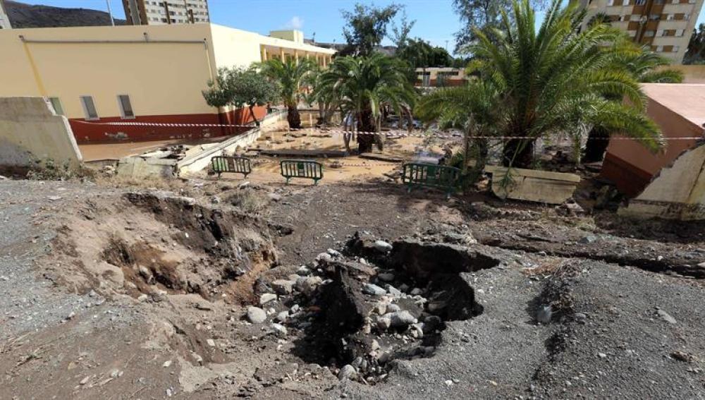 Intensas lluvias en Las Palmas de Gran Canaria