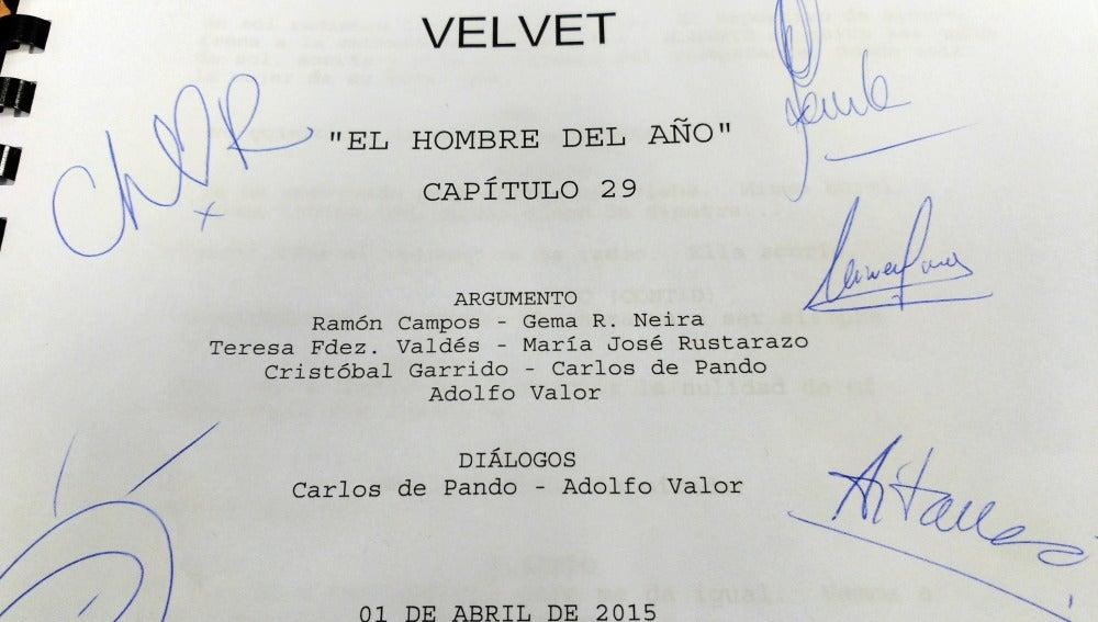 Guión capítulo 29 de Velvet
