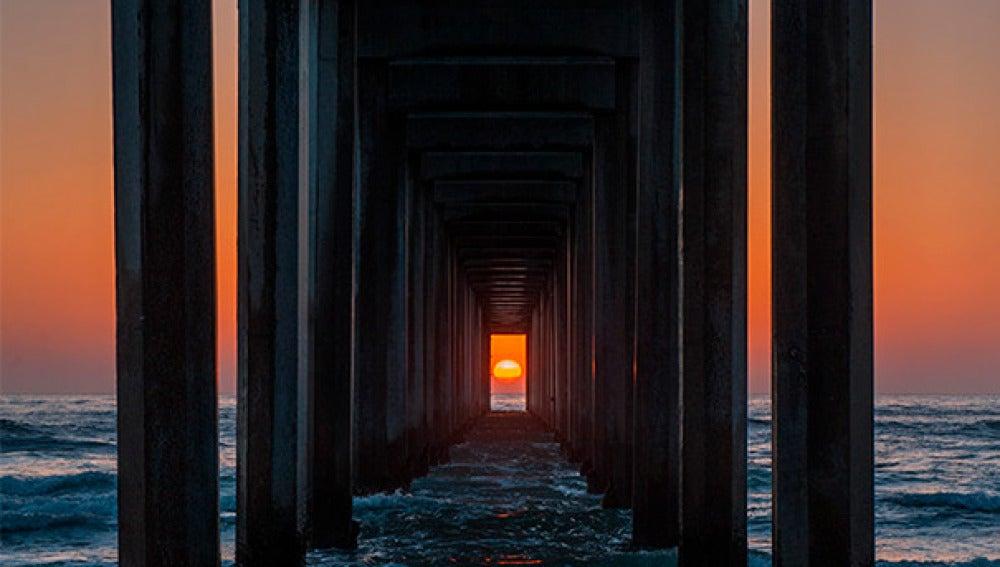 Espectacular puesta de sol en California