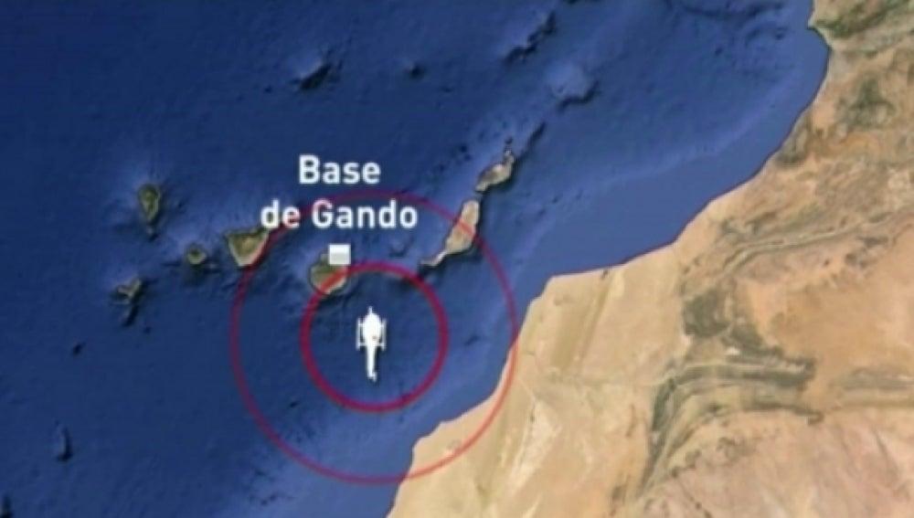 Base de Gando donde regresaban los militares