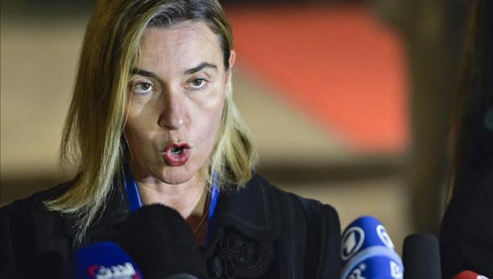 En el 70 aniversario de la ONU, la jefa de la diplomacia europea, Federica Mogherini.