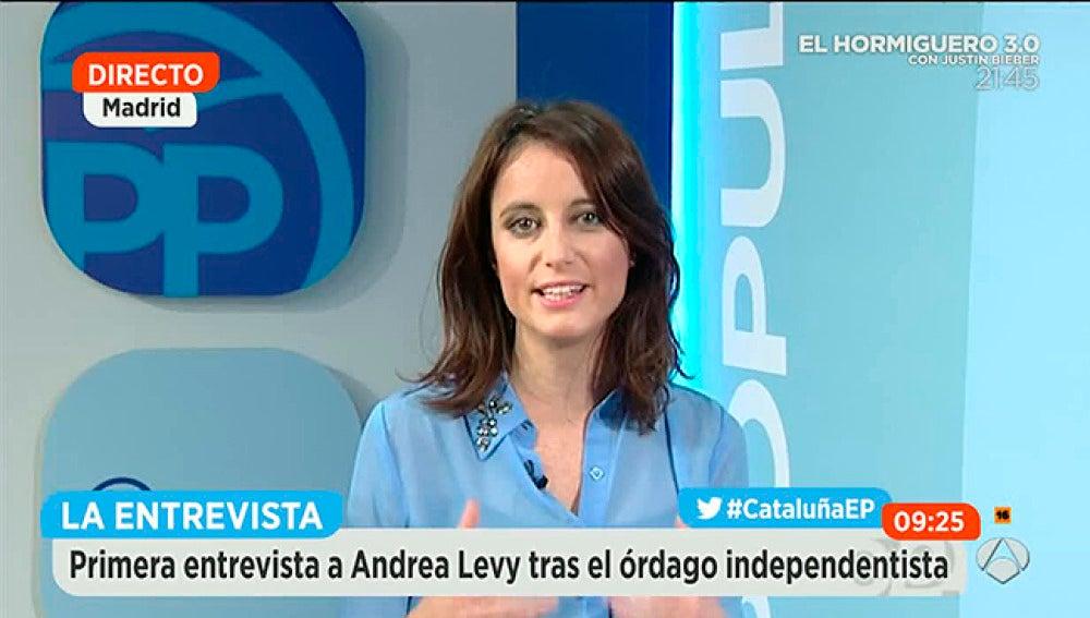 Andrea Levy, vicesecretaria del PP, en Espejo Público.