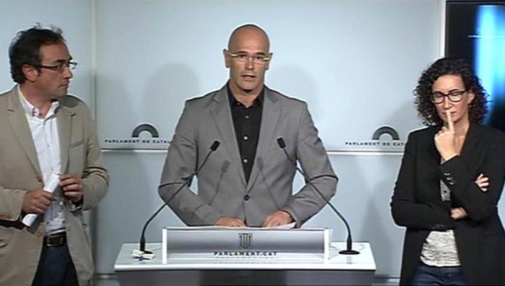 El número uno de la candidatura de Junts pel Sí, Raül Romeva