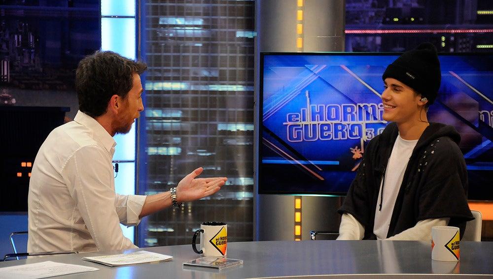 Justin Bieber charla con Pablo Motos
