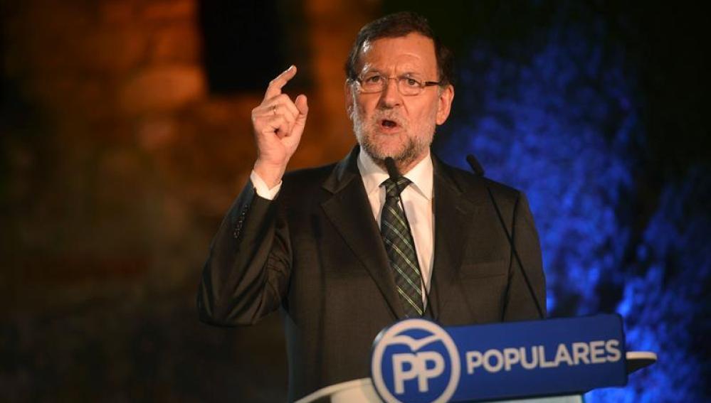 Mariano Rajoy, en la localidad cordobesa de Cabra
