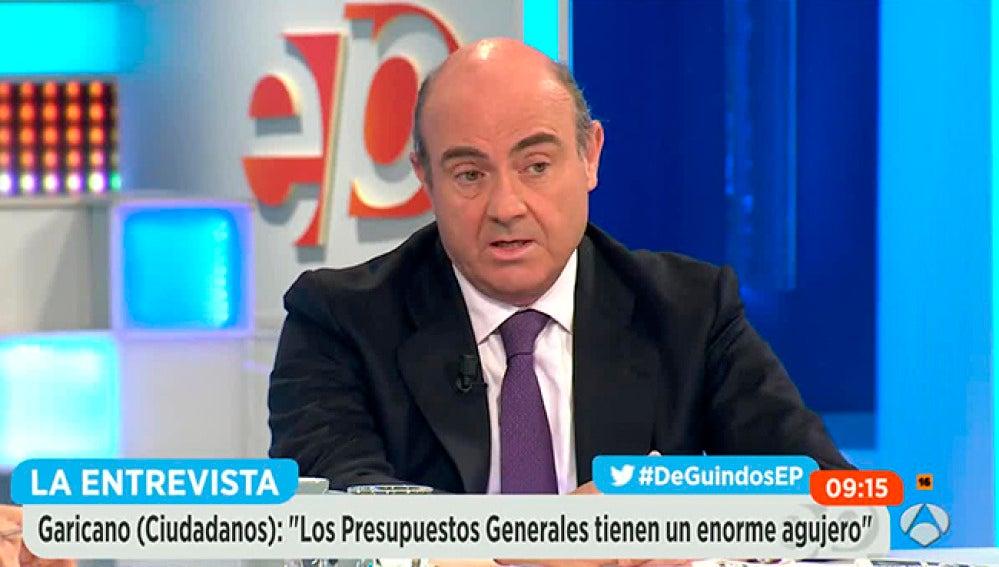 El ministro Luis De Guindos en Espejo Público.