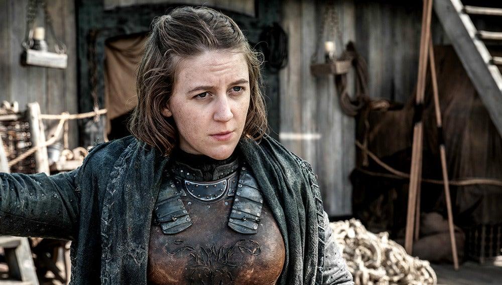 Yara Greyjoy en Juago de Tronos