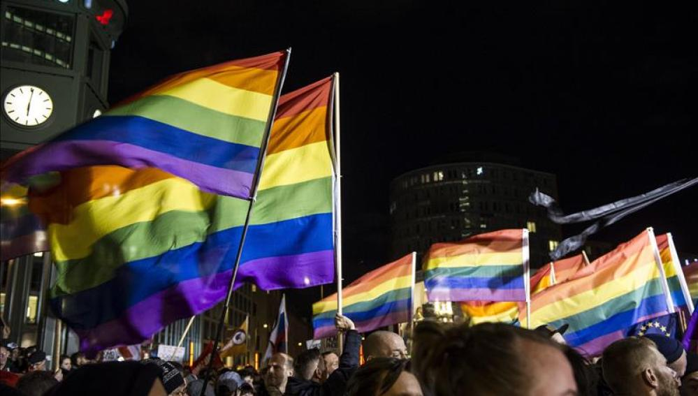 Protesta por la persecución de homosexuales en Rusia