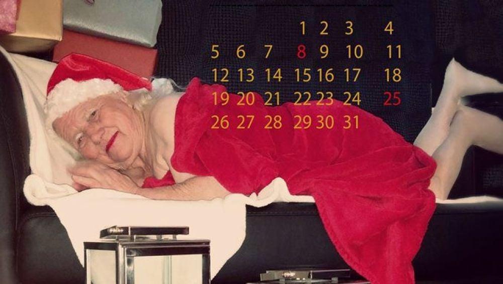Mamá Noel espera en el mes de diciembre