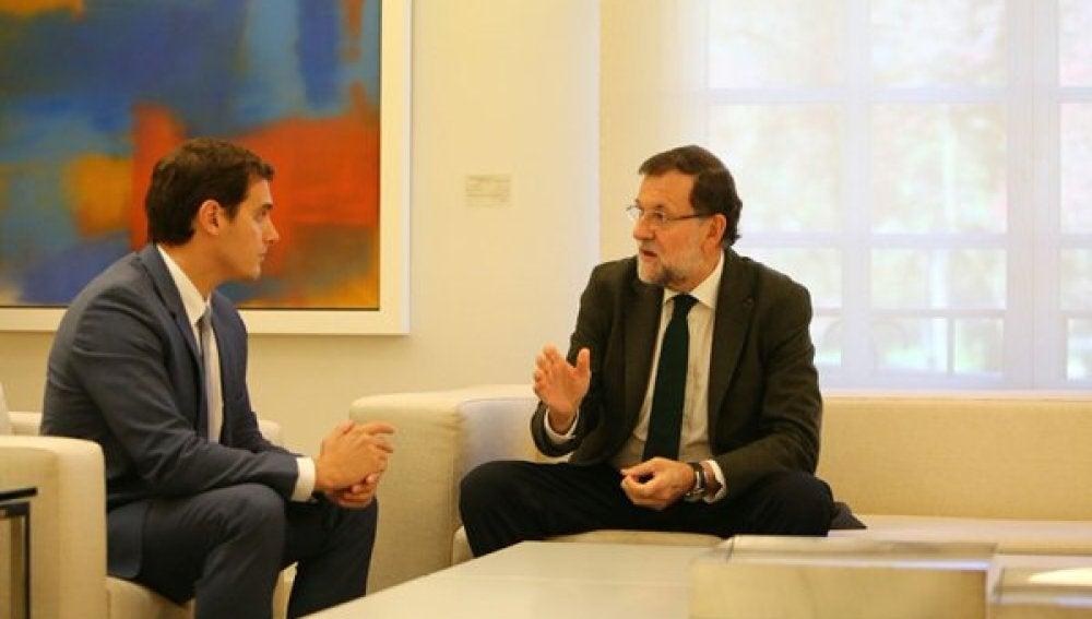 Rajoy con Albert Rivera