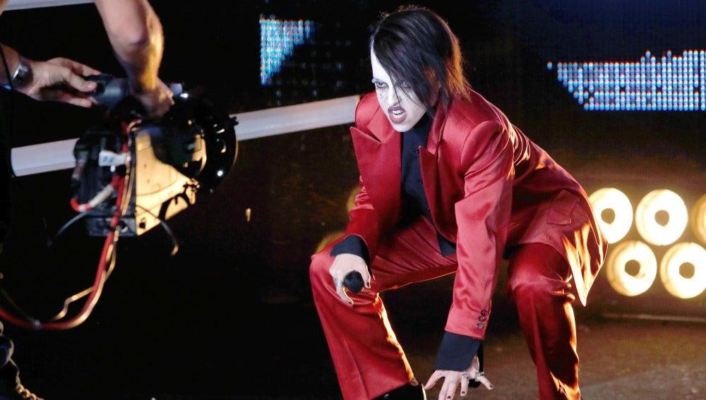 El lado más siniestro de Ruth Lorenzo imitando a Marilyn Manson