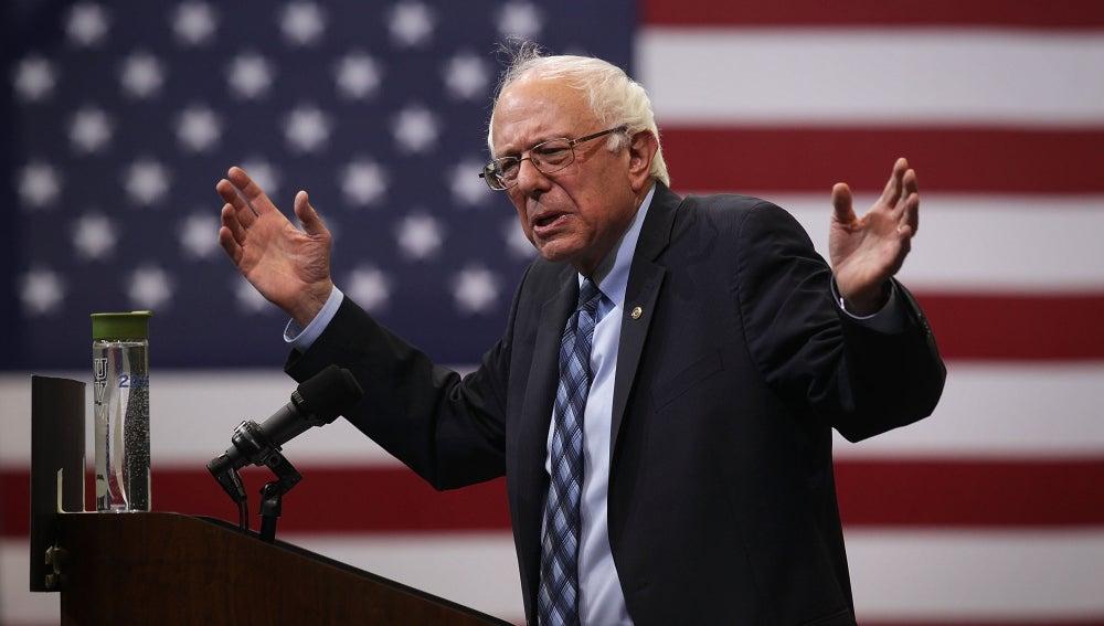El aspirante a la nominación presidencial demócrata, Bernie Sanders